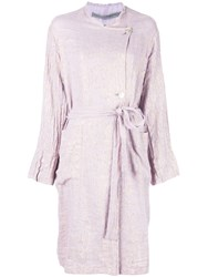 Raquel Allegra Off Centre Button Coat Purple
