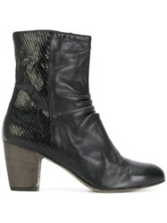 Ink Zipped Ankle Boots Calf Leather Leather