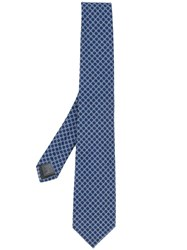 Z Zegna Geometric Patterned Tie Blue