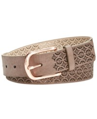 Inc International Concepts Perforated Belt Created For Macy's Taupe
