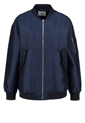Just Female Theory Bomber Jacket Navy Dark Blue