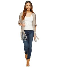 Rock And Roll Cowgirl Cardigan 49V2127 Taupe Women's Sweater
