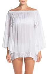 Women's Surf Gypsy Crochet Inset Ombre Cover Up Top