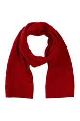 Victorinox Essential Knit Ribbed Scarf Red