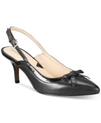Adrienne Vittadini Simka Pointed Toe Slingback Pumps Women's Shoes Black