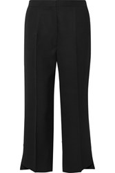 Acne Studios Iris Cropped Wool Twill Wide Leg Pants Black