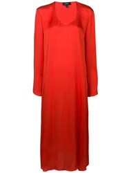Theory Fluid Midi Dress Orange