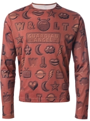 Walter Van Beirendonck Vintage Guardian Angel Shapes Print T Shirt Brown