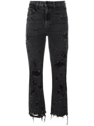 Alexander Wang Distressed Cropped Jeans Black