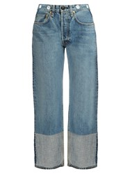 Rag And Bone Trompe L'oeil Cuff High Rise Boyfriend Jeans Light Denim