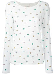 Chinti And Parker Rainbow Spot T Shirt White