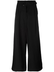 Christian Wijnants Wide Leg Trousers Women Lyocell Viscose 36 Black