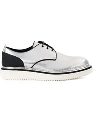 Bruno Bordese Metallic Grey Derby Shoes