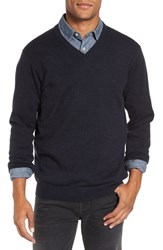 Rodd And Gunn Men's 'Inchbonnie' Wool Cashmere V Neck Sweater Midnight