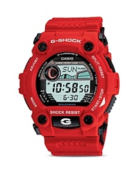 G Shock Tide Graph Watch 52.4Mm Red