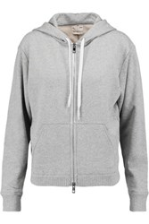 Rag And Bone X Boyfriend Cotton Jersey Hoodie Gray