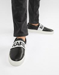 Karl Lagerfeld Kupsole Band Slip On Trainers In Black