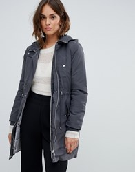 Oasis Two In One Parka In Grey