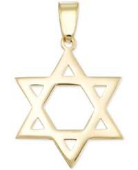 Macy's Star Of David Flat Style Pendant In 14K Gold