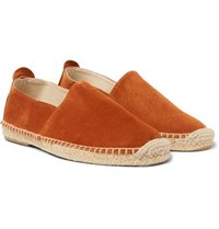 Anderson And Sheppard Suede Espadrilles Orange