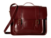 Dr. Martens 15 Leather Satchel Cherry Red Satchel Handbags
