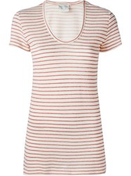 Forte Forte Striped T Shirt Red
