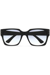 Roland Mouret Square Frame Acetate Sunglasses Black