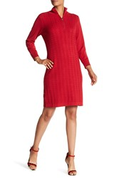 Tommy Bahama Pickford Cable Half Zip Dress Cerise