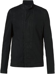 Julius Panelled Zip Jacket Black