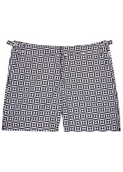 Orlebar Brown Bulldog Tamanu Printed Swim Shorts Black And White