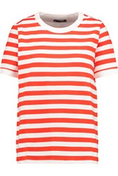 Petit Bateau Striped Cotton Blend Top Red
