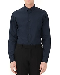 Sandro Seamless Slim Fit Button Down Shirt Marine