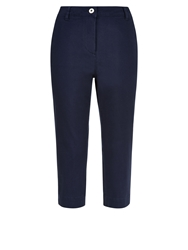 Dash Navy Twill Cropped Trousers