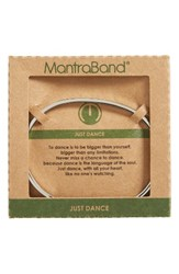 Mantraband Women's Just Dance Engraved Cuff Silver