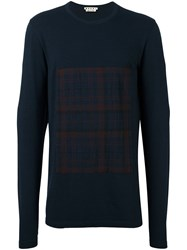 Marni Checked Patch Jumper Blue