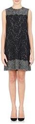 Dolce And Gabbana Tweed And Lace Shift Dress Grey