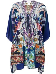 Camilla Mini Kaftan Dress Blue