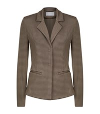 Escada Sport Textured Chevron Blazer Female Brown