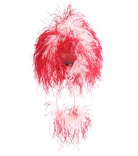Prada Feather Trimmed Hat Pink