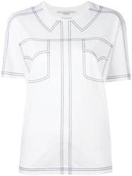 Stella Mccartney Embroidered Shirt Detail T Shirt White
