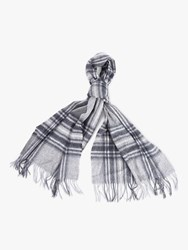 Barbour Lonnen Check Lambswool Wrap Scarf Monochrome