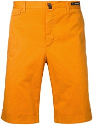 Pt01 Bermuda Shorts Men Cotton Spandex Elastane 48 Yellow Orange
