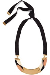 Marni Resin And Grosgrain Necklace Black