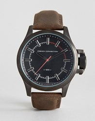 French Connection Bromley Quartz Stainless Steel Watch Brown