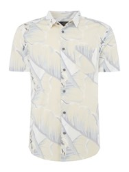 Label Lab Crux Large Muted Floral Shirt White