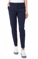 Liverpool Kelsey Knit Trousers Cadet Blue