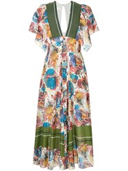 Ginger And Smart Submerge Floral Print Dress Multicolour