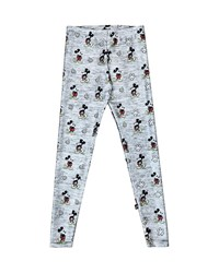 Terez Heathered Mickey Mouse Leggings Gray