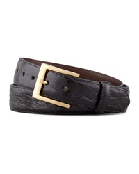 W.Kleinberg Glazed Alligator Belt Black Black 32
