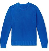 Anderson And Sheppard Cotton Sweater Blue